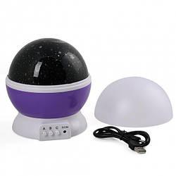 Ночник-проектор Star Master с функцией вращения, фиолетовый (5266)