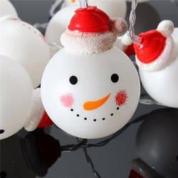 Гирлянда снеговички 10 LED