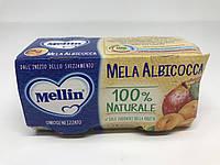 Детское фруктовое  пюре Mellin яблоко с абрикосом - Италия - 200гр