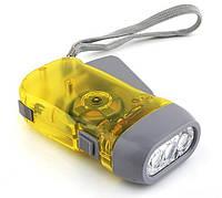 Фонарик светодиодный (3xLED) с динамо-генератором, фото 1