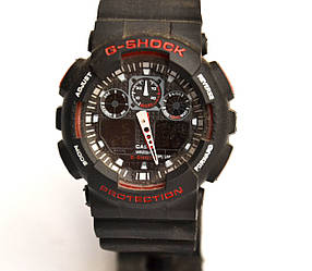 Часы наручные Черные с красным