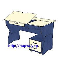 """Письменный стол растущий для школьника 120см  """"СУ - 25 """" регулируемый по высоте и наклону, фото 1"""
