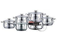 Набор посуды ( набор кастрюль ) 12 предметов PETERHOF PH-15774