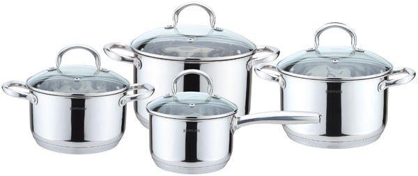 Набор кастрюль ( набор посуды ) 8 предметов Bohmann BH 0908