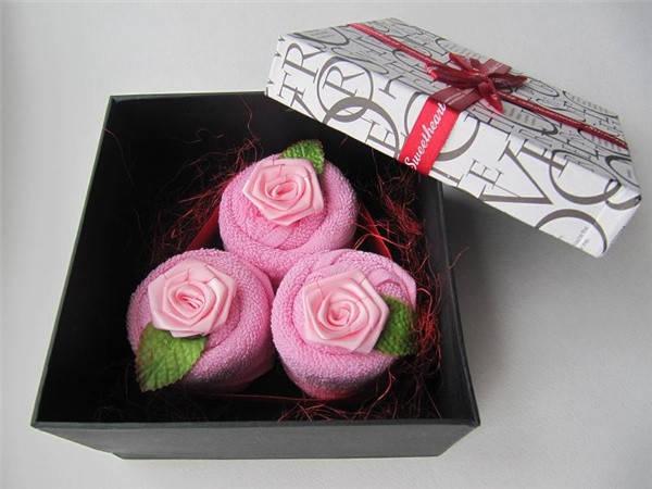 """Рушник-тістечко """"Чайна троянда"""", фото 2"""