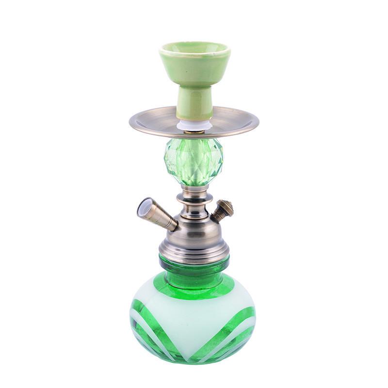 Кальян на одну персону (28см) KN-191 (Зеленый)