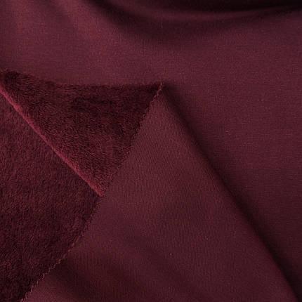 Трикотаж на меху бордовый, фото 2