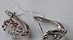 Серебряные серьги - котята детские, фото 3