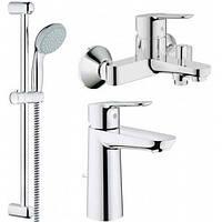Набор смесителей для ванны и раковины Grohe BauEdge 123215M