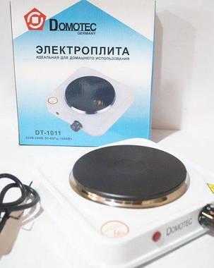 Электроплита 1 комфорка блин Domotec DT-1011 1000w, фото 2