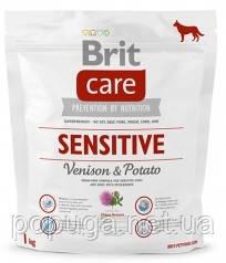 Корм Brit Care Sensitive Venison & Potato с олениной для собак всех пород, 1 кг
