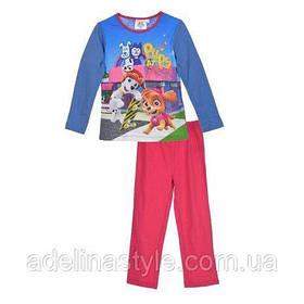 Пижама детская для девочки Щенячий патруль розовая 4-6 лет