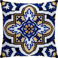 ПОДУШКА для вишивки хрестиком (40х40см), набір з канвою та нитками