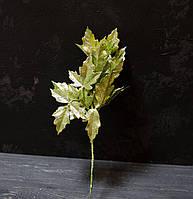Ветка остролиста зеленого брокат 30 см, фото 1