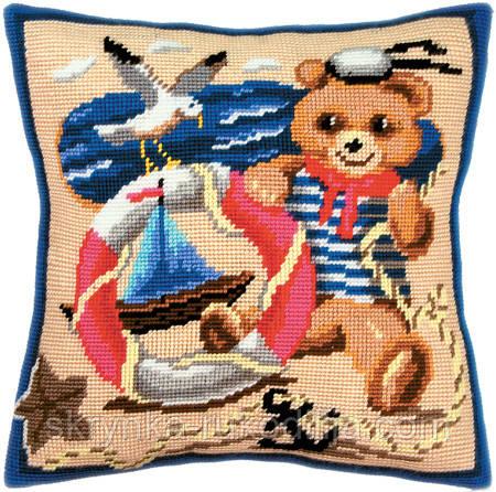 ПОДУШКА для вишивки півхрестиком (40х40см), набір з канвою та нитками