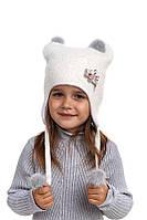 Шерстяная шапка ушанка для девочки Лора, Nikola, фото 1