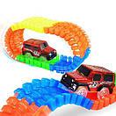 Детская гибкая дорога Magic Tracks 360 деталей c мостом и перекрестком на 2 машинки, фото 6