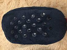 Тапочки детские утепленные  на меху на мальчика синие Тачки 29-30 р., фото 2