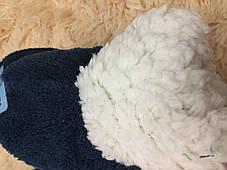 Тапочки детские утепленные  на меху на мальчика синие Тачки 29-30 р., фото 3