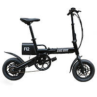 CMS-F12 36V 6.6AH 250W черный 12 дюймов City Folding Electric Bicycle 20km / h 50KM Пробег E Bike