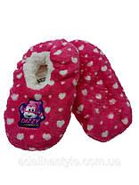 Тапочки детские утепленные  на меху на девочку розовые, фото 3