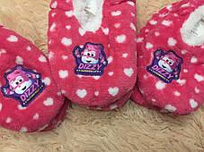 Тапочки детские утепленные  на меху на девочку розовые, фото 2