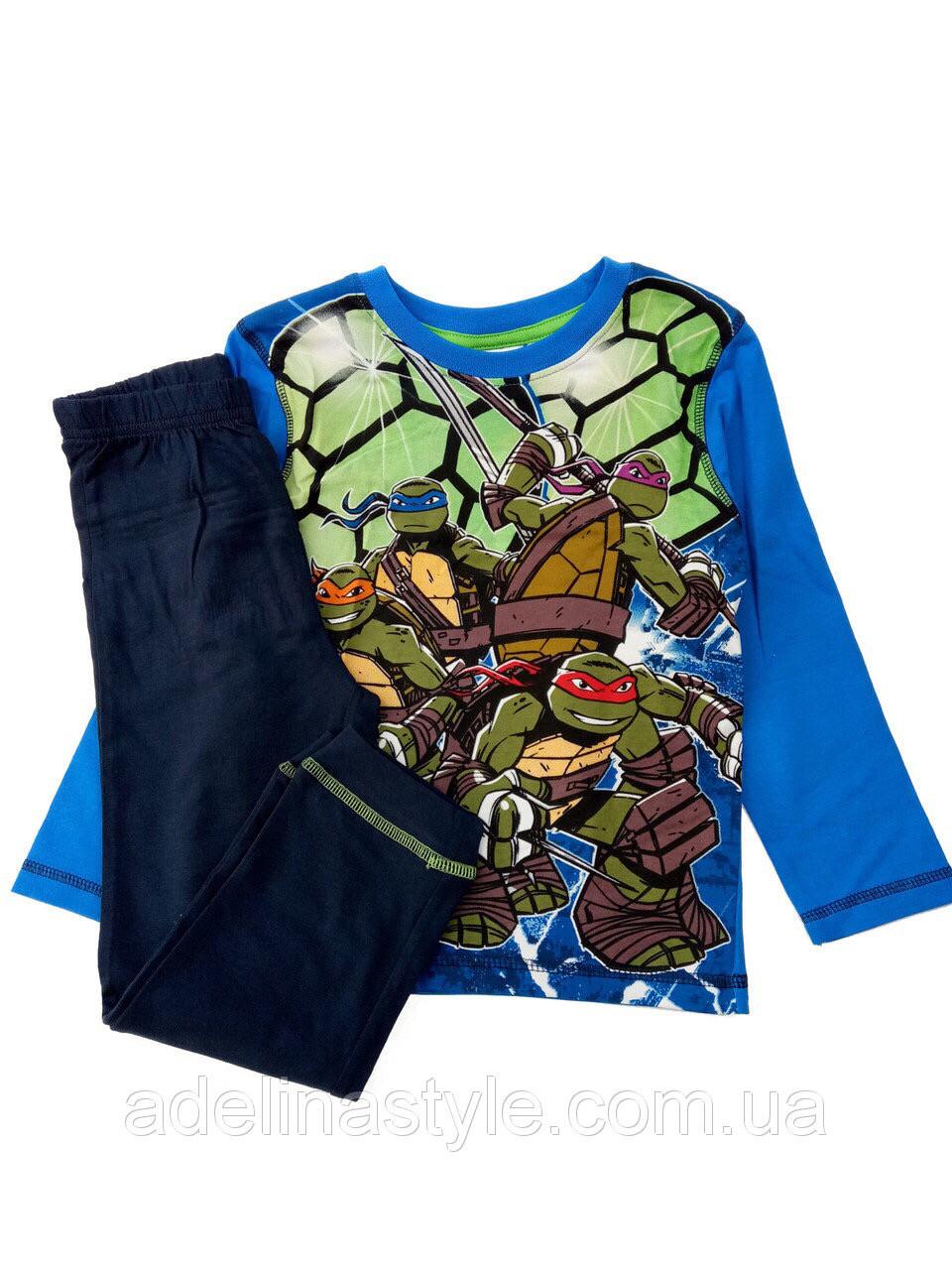 Пижама детская для мальчика Черепашки- ниндзя 4 года