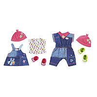 Набор одежды для куклы BABY BORN - МОДНЫЙ ДЖИНС (2 вида в ассорт. для куклы 43 см) ТМ Zapf 824498, фото 1