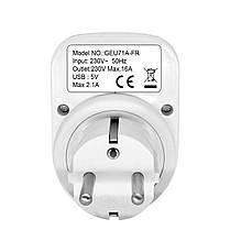 LoskiiSH-505VМакс.2.1AВнутренний электронный Smart 2 USB-порта 180 градусов Стена Разъем Переключатель - 1TopShop, фото 3