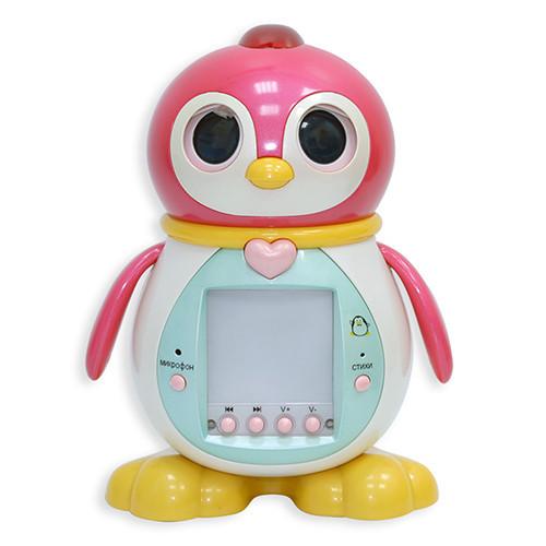 Интерактивный Пингвиненок ТИША розовый