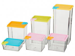 Набор контейнеров для сыпучих продуктов Supretto 6 шт (4942)
