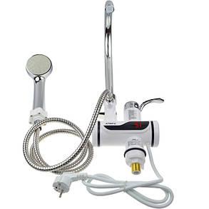 Мгновенный проточный водонагреватель с душем и дисплеем (Нижнее подключение), фото 2