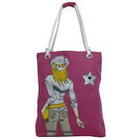 Пляжная женская сумка BagHouse 33х40х10 Розовый (к 0121роз)