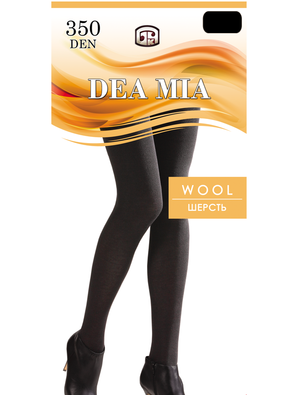 Женские теплые колготки Wool 350 Dea Mia