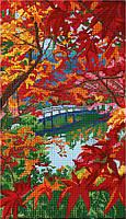 """Схема для полной зашивки бисером - """"Осенний мостик"""""""