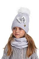 Комплект для девочки шапка и снуд, Nikola, фото 1