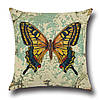 Подушка с принтом Желтая бабочка