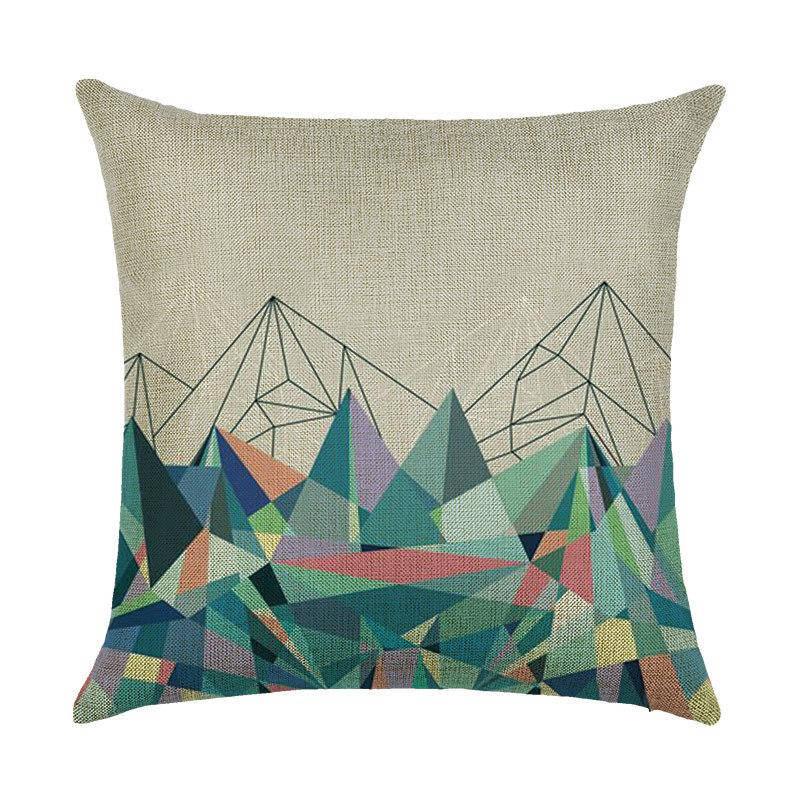 Подушка с принтом Горы