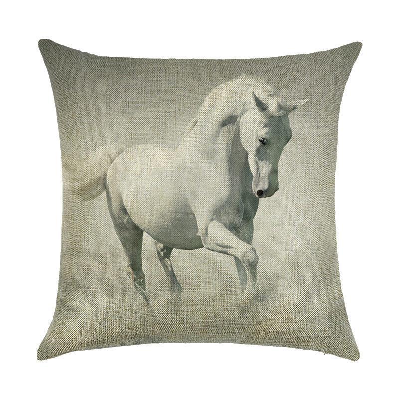 Подушка декоративная Белая лошадь 45 х 45 см Berni