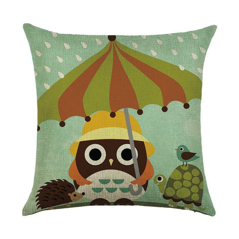 Подушка декоративная Звери под зонтом 45 х 45 см Berni