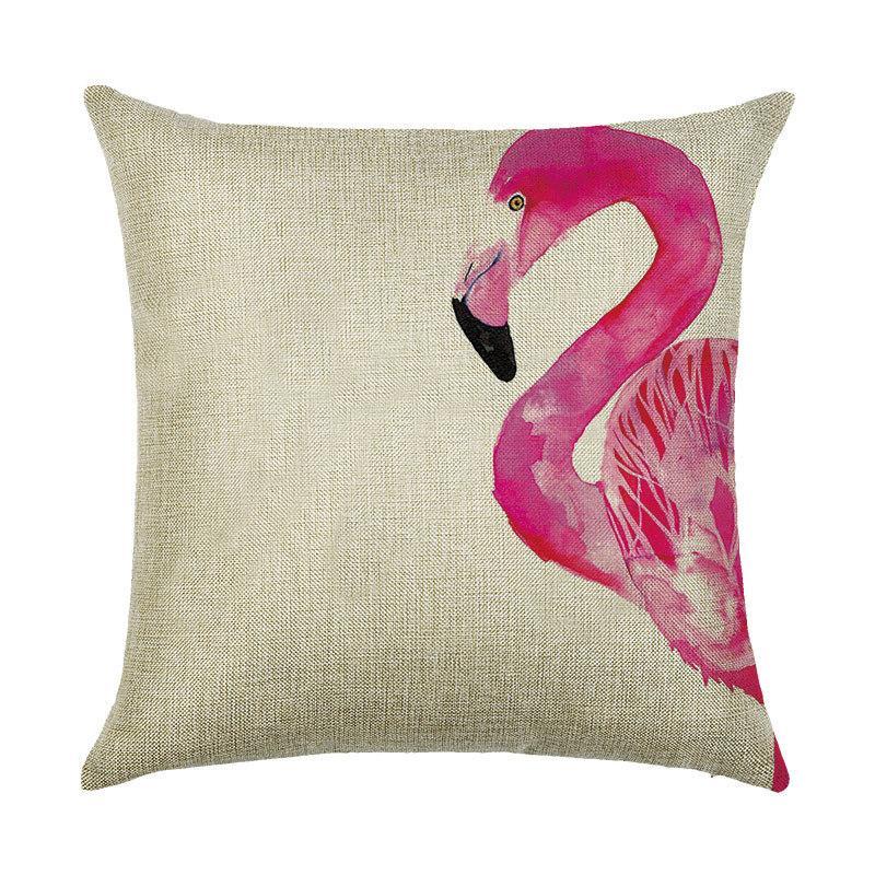 Подушка декоративная Фламинго акварель 45 х 45 см Berni