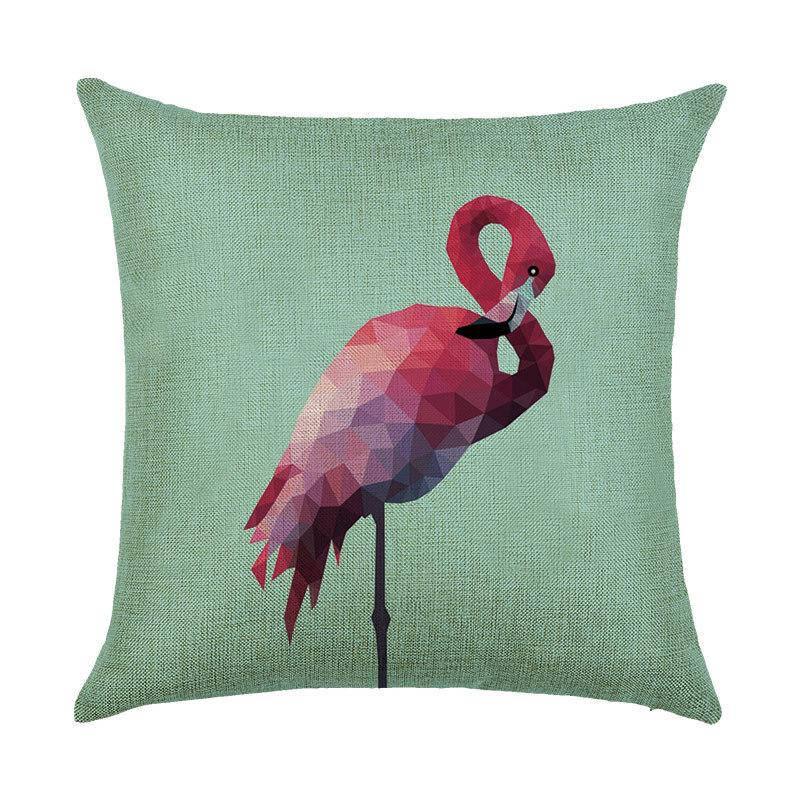 Подушка с принтом Фламинго A