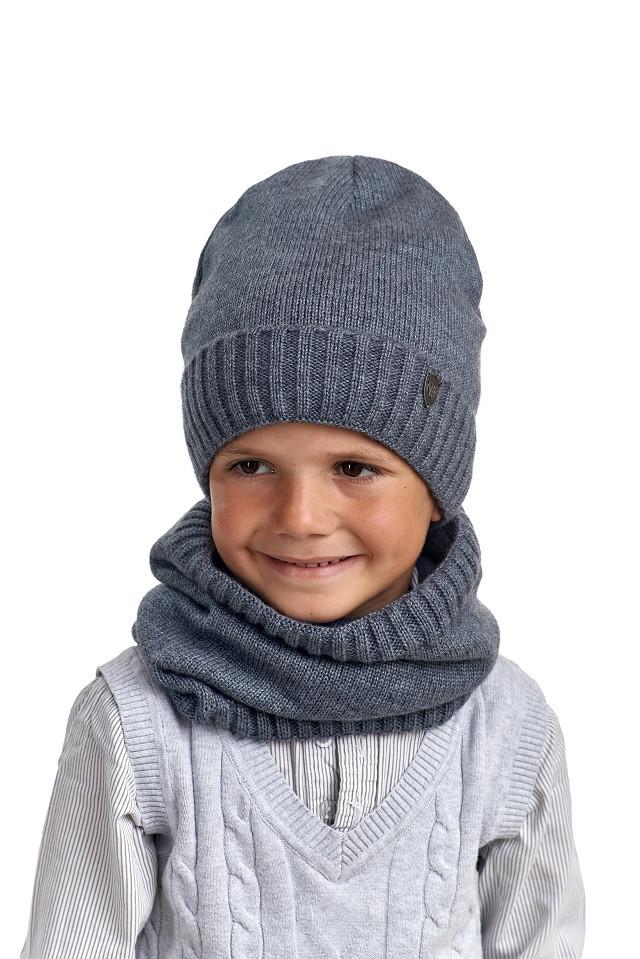 Комплект для мальчика шапка и снуд, Nikola