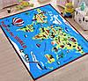 Коврик для детской комнаты Карта мира, фото 3