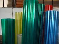 Шифер прозрачный армированный стекловолокном в рулонах  (Опал,желтый,зеленый,бронза голубой)