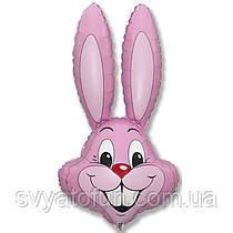 """Фольгований міні-куля """"Заєць"""", рожевий, 14(35см), FlexMetal"""