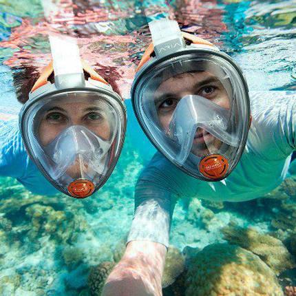 Маска для снорклинга, подводного плавания ныряния 1639, фото 2