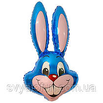 """Фольгований міні-куля """"Заєць"""", синій, 14(35см), FlexMetal"""