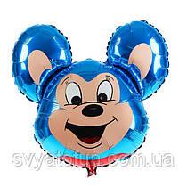 """Фольгований міні-куля """"Міккі Маус"""", синій, 14""""(35 см), FlexMetal"""
