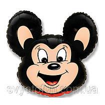 """Фольгований міні-куля """"Міккі Маус"""", чорний, 14""""(35 см), FlexMetal"""